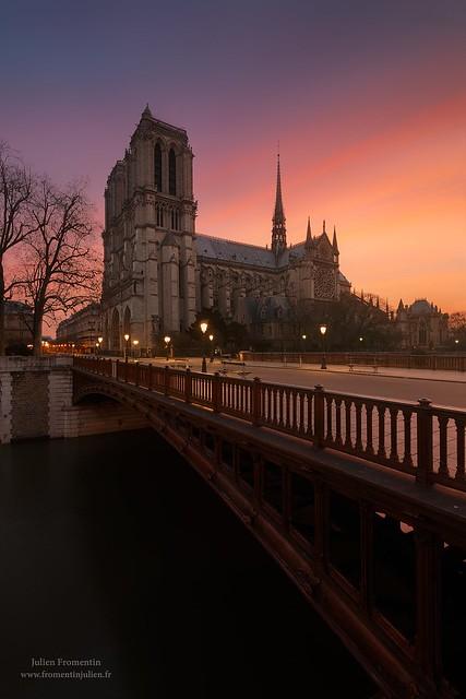 Pont au Double & Cathédrale Notre-Dame, Paris