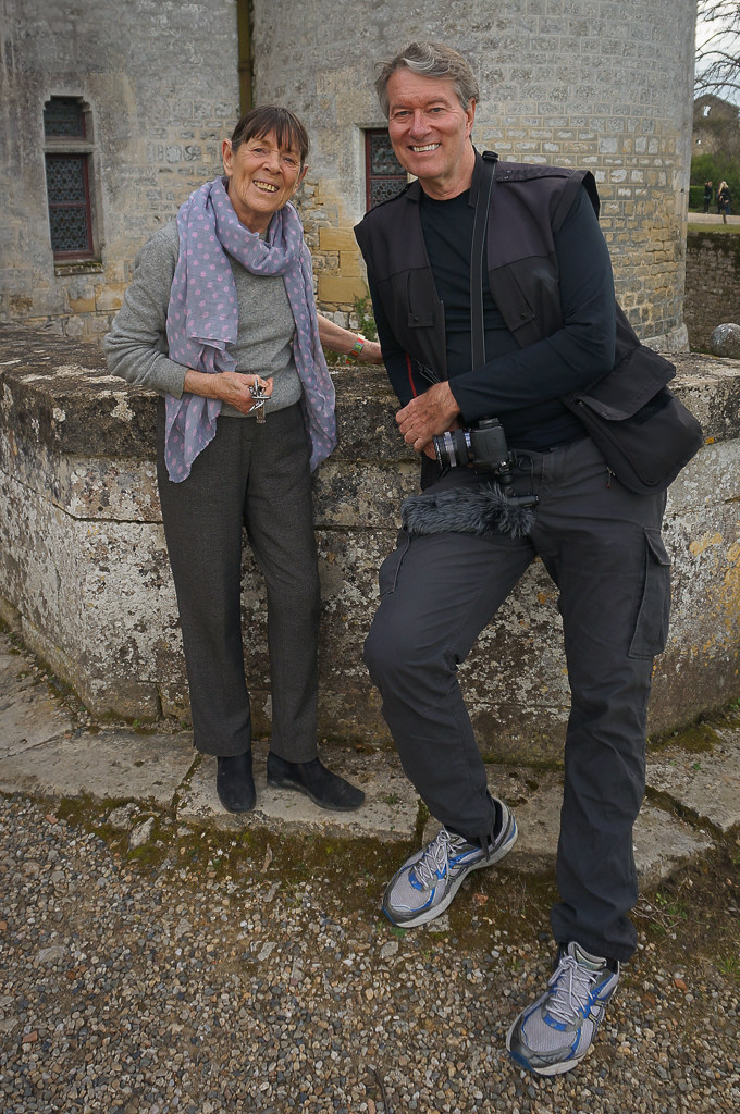 With the owner of Château de Roquetaillade. © 2016 Monica Frisk