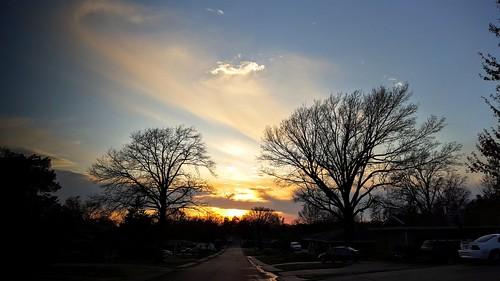sunset baretrees bartlesville cloudsstormssunsetssunrises galaxys6