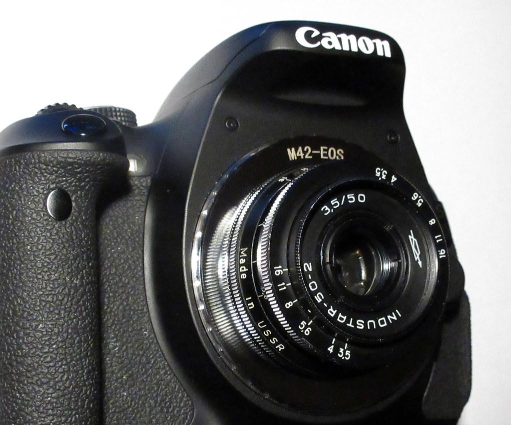 Alternative body cap lens - Industar-50-2 on a Canon EOS 6