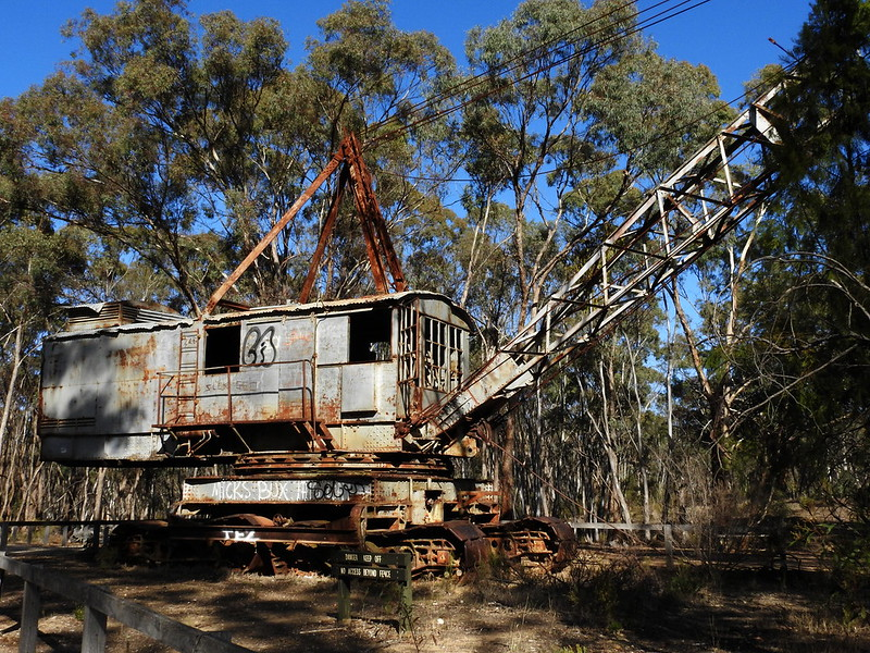 Dragline and Dredge at Porcupine Flat (Series of 7 photos)