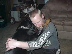 Chris and Athena hugging