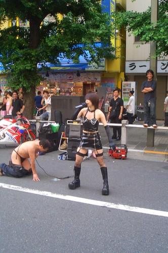 Weird girl in Akihabara