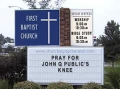 church sign Knee