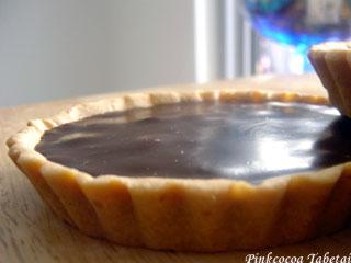 Bitter Chocolate Kahlua Tart