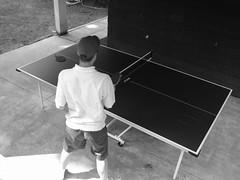 David plays Ping-Pong