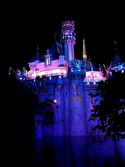 Disneyland Castle @night (reverse)
