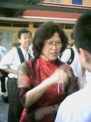 Mdm Quah giving her last lesson.