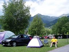Camping at Aigle