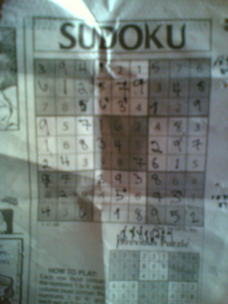 first time to do sudoku