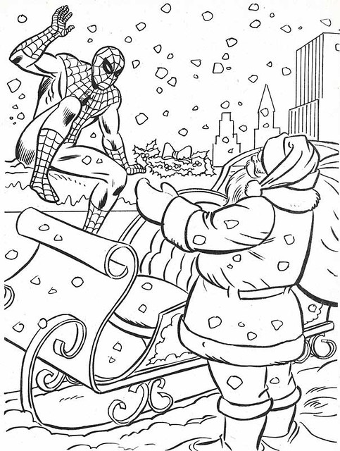christmas coloring book page