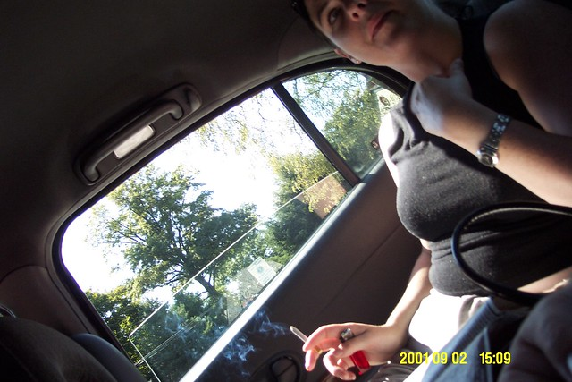 Sinead_smoking_in_the_car