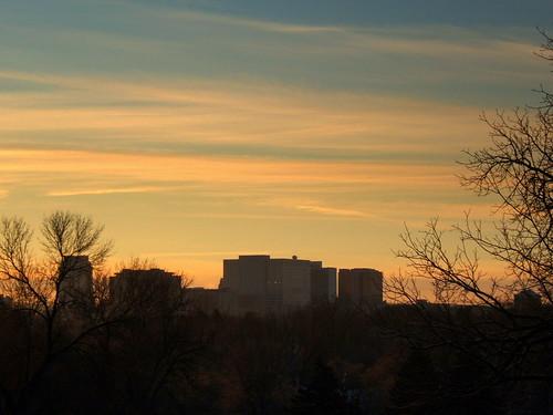 minnesota sunrise downtown rochester