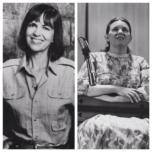 In honor of last night's KY Writers Hall of Fame induction, we #flashbackfriday to these images of 2 @kentucky_alumni who were honored at the ceremony, Bobbie Ann Mason & Jean Ritchie. Mason, who returned as UK's first writer-in-residence, gained attentio
