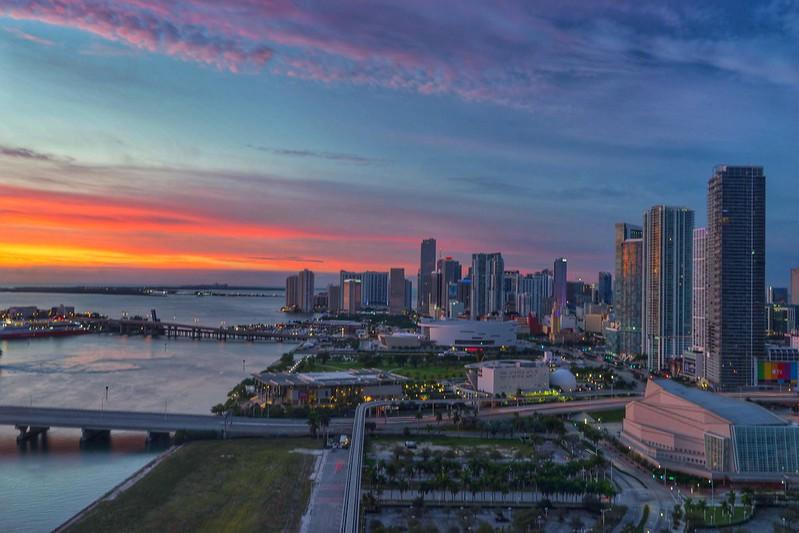 rainbow shades at sunset | downtown miami | florida.