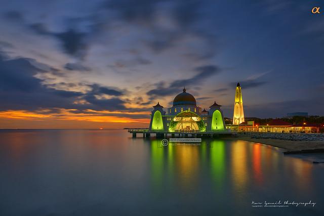 Sunset at Masjid Selat, Melaka