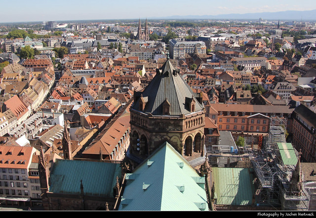 View from Cathédrale Notre-Dame, Strasbourg, France