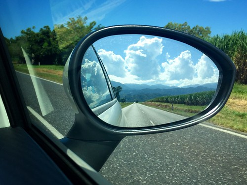 road clouds highway sideviewmirror