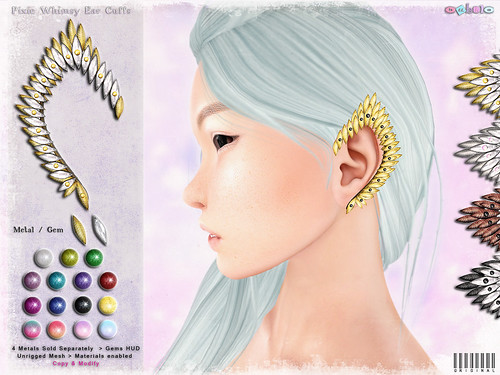 [ bubble ] Pixie Whimsy Ear Cuffs | by ::: insanya ::: & [ bubble ]