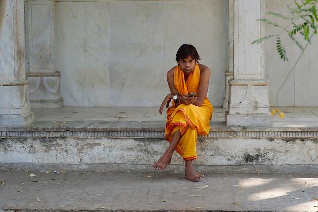 Jain temple attendant.