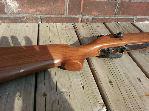 Custom Small-Ring M98 Mauser in 6.5x55 -- buttstock, bottom metal