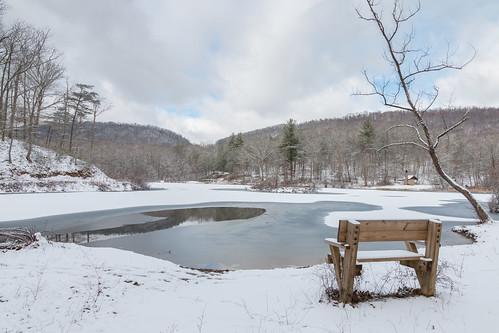 winter usa snow canon landscape virginia frozen hbm pandapaspond jeffersonnationalforest canon1585 canon70d