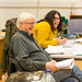 John Dove, Director, and Claire Williamson, Deputy Stage Manager, in rehearsals for The Crucible, Lyceum Theatre