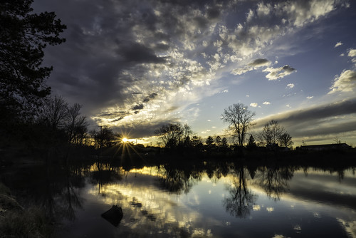 sunset reflection allentownnewjersey