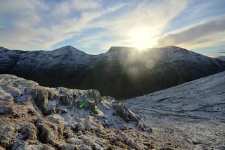 The Sun appears above Buchaille Etive Mor | by HughO2