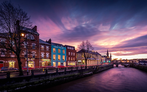 ireland sky color clouds river long exposure cork lee