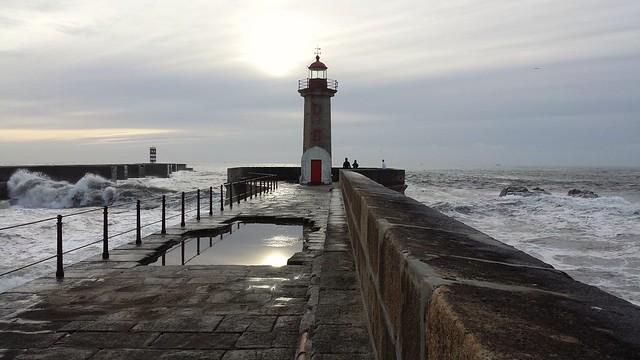 A lighthouse in  Porto PT  (Atlantic Ocean) in Jan. 2016