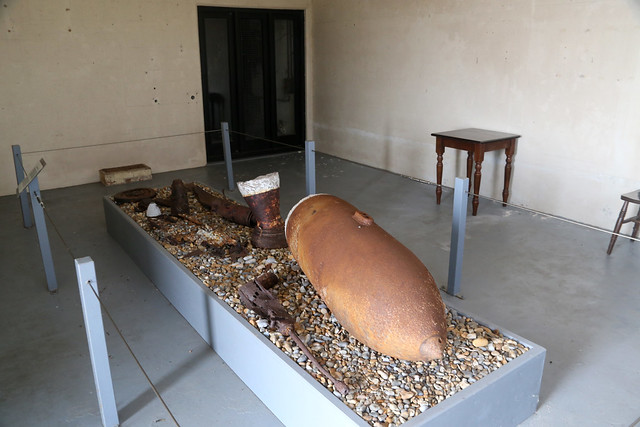 Remains of bombs at Orford Ness