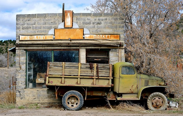 Grocery - Market and a circa 1943 GMC Flatbed