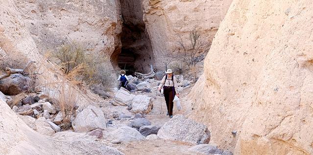 BLM employee works Tent Rocks slot canyon