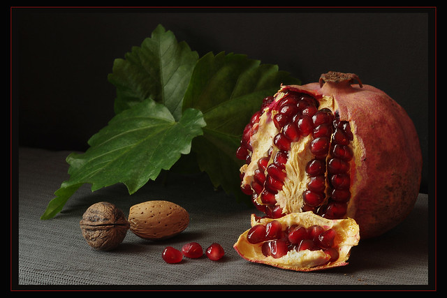 pomegranate and nuts