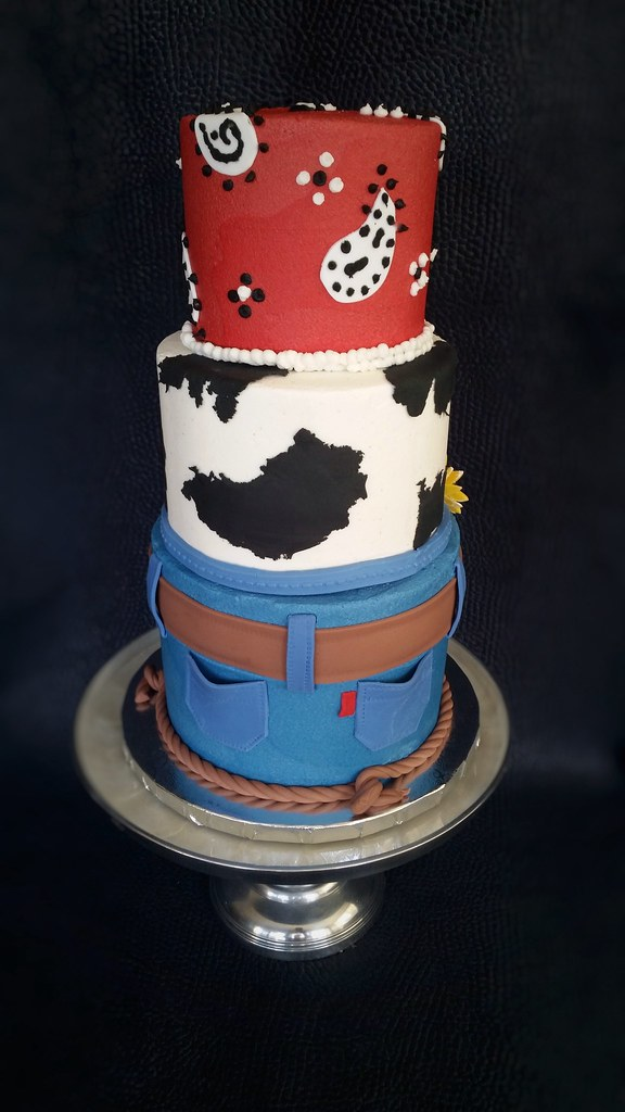 Astonishing Cowboy Birthday Cake Back Skyes Delights Flickr Funny Birthday Cards Online Inifodamsfinfo