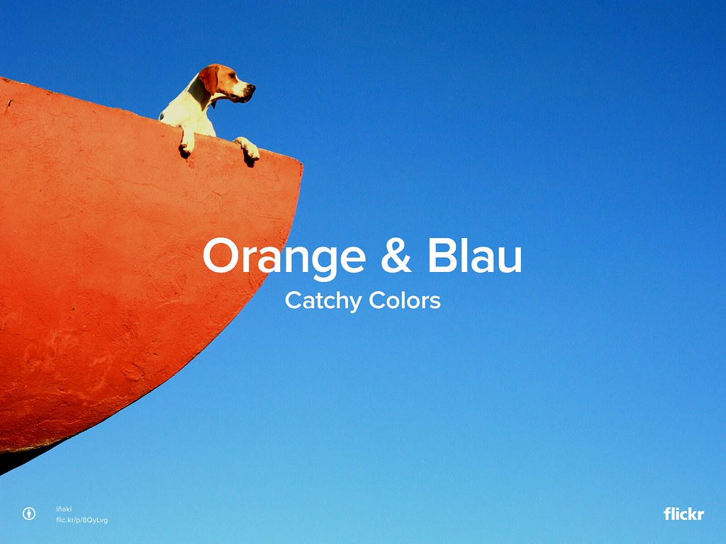 Catchy Colors: Orange & Blau