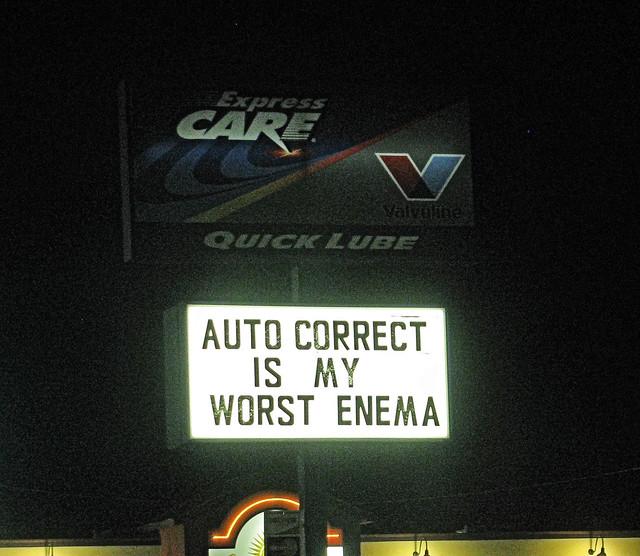 Lamenting Auto Correct