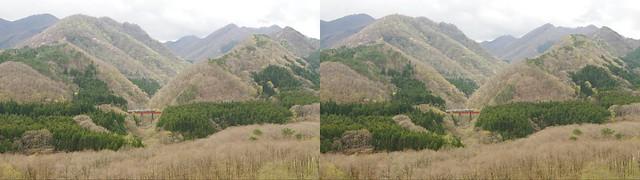 Oku-nikkawa, 4K UHD, stereo cross view