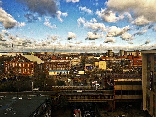 people clouds buildings office view shops portsmouth roads jainbow