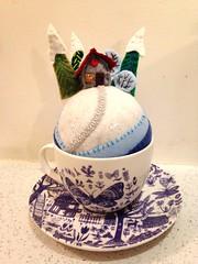 Tiny World pincushion from  pattern by Mimi Kirchner