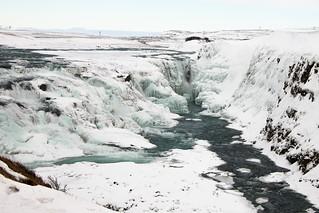 Frozen Gullfoss falls - Iceland