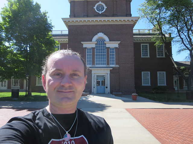 Ryan Janek Wolowski visiting The Henry Ford Museum a National Historic Landmark in the Metro Detroit suburb of Dearborn, Michigan, USA