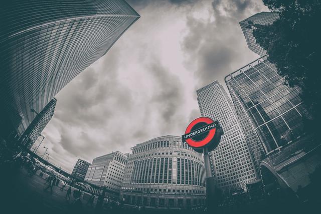 Canary Wharf Underground - London City Office Life by Simon Hadleigh-Sparks (On Explore 29th Feb 2016)