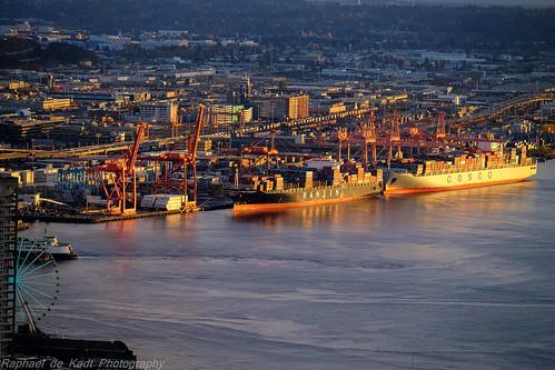 seattle sunset docks reflections cityscape harbour ships fujifilmxt1 fujinonxf18135mm