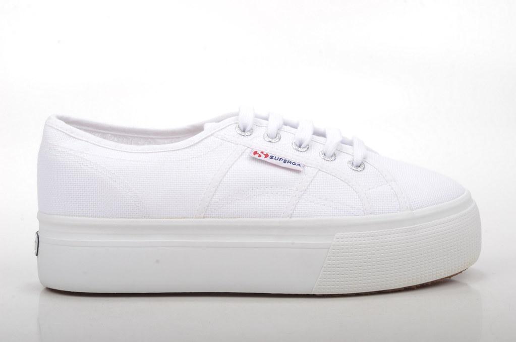 1eb3fc6ba09a26 ... Superga COTW LINEA UP   DOWN Sneaker mit Plateau 2790A Canvas weiß  (white) (