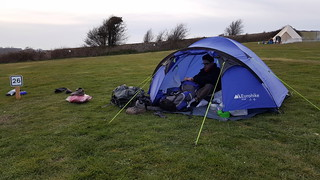 Sorting out the tent at Housedean Farm campsite | by bradbox