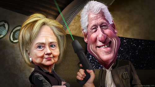 Bill & Hillary Clinton - The Force Awakens | by DonkeyHotey