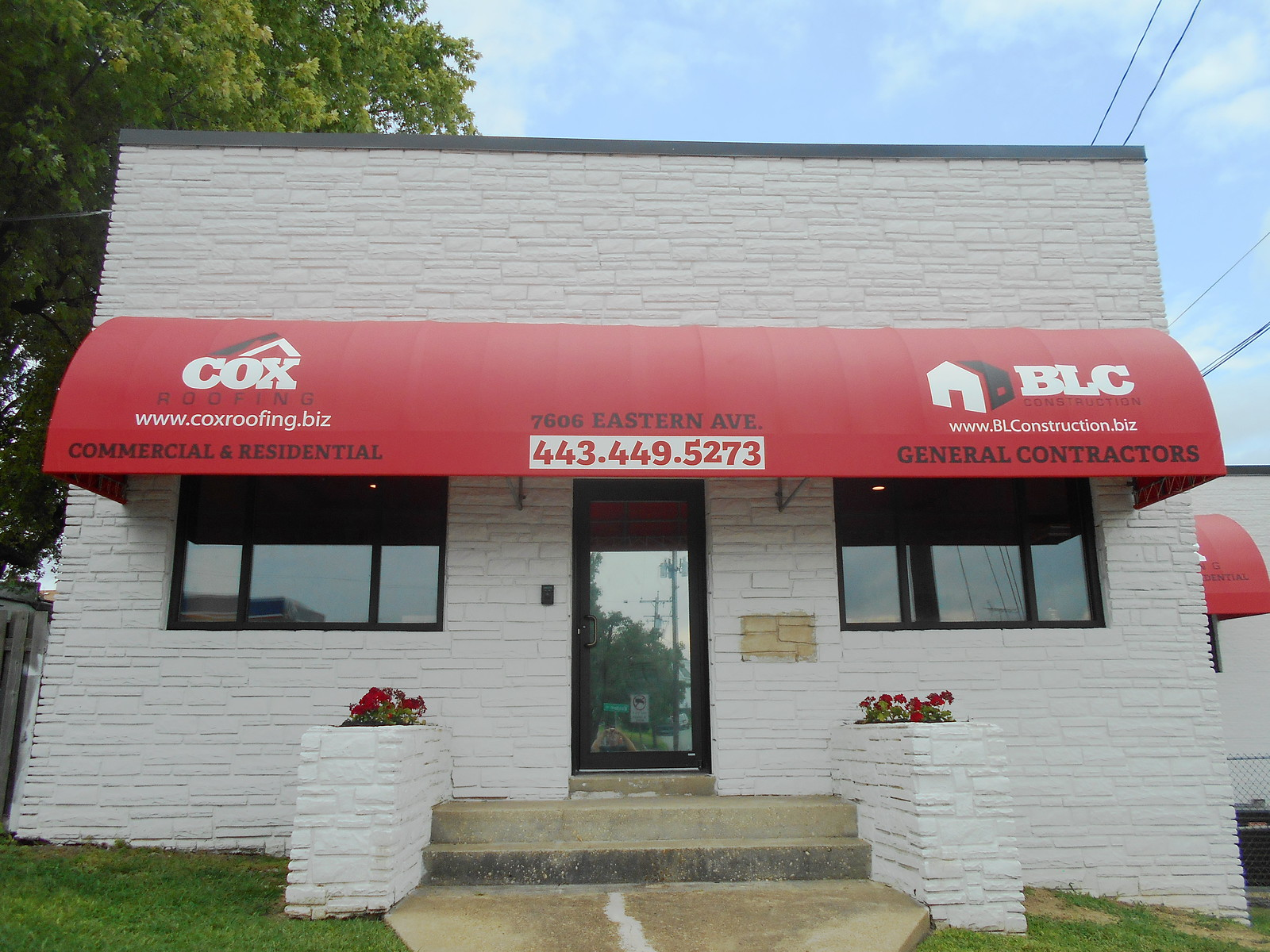 Building Storefront and Window Awnings