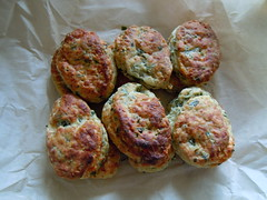 Wild Garlic & Cheese Scones